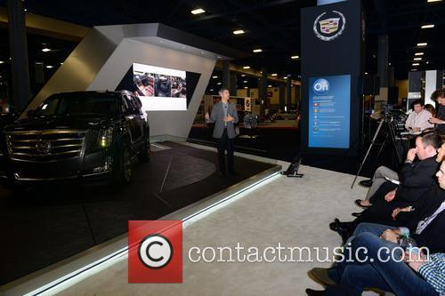 Micheal Stapleton Cadillac Design Director Introducing 2014 Cadillac Escalade 1