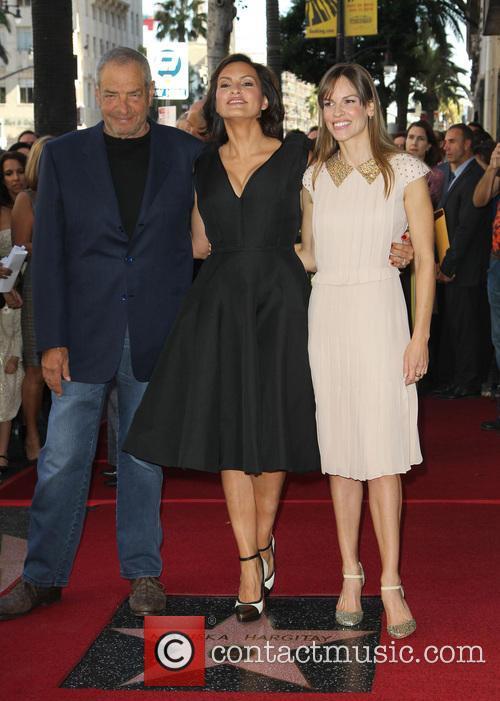 Dick Wolf, Mariska Hargitay, Hillary Swank, On The Hollywood Walk Of Fame