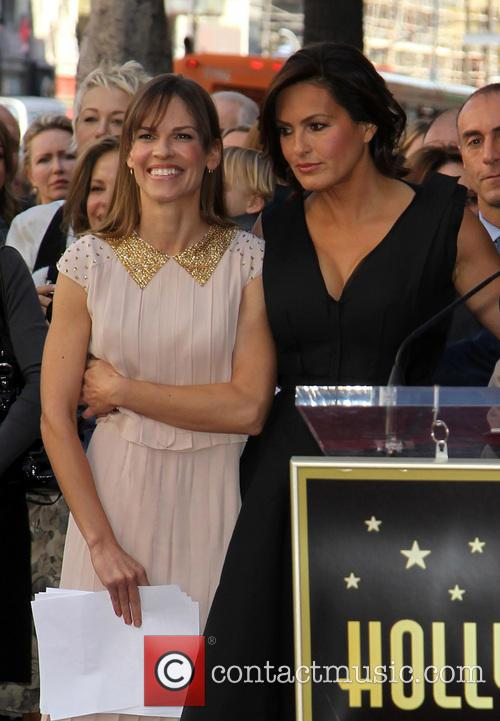 Hillary Swank, Mariska Hargitay, On The Hollywood Walk Of Fame