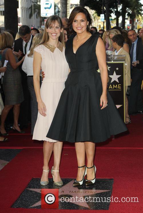 Hillary Swank, Mariska Hargitay, On The Hollywood Walk Of Fame