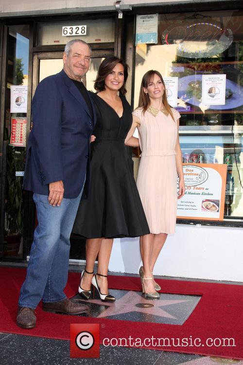 Dick Wolf, Mariska Hargitay, Hilary Swank, Hollywood Walk of Fame