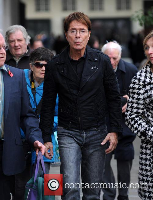 Sir Cliff Richard spotted at The BBC