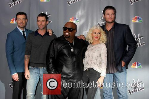 Christina Aguilera, Blake Shelton, Carson Daly and Ceelo Green 11