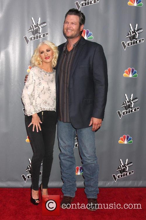 Christina Aguilera and Blake Shelton 9
