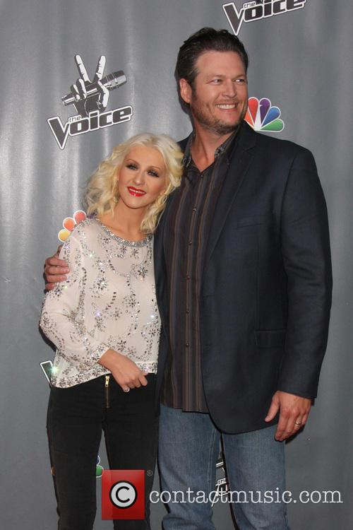 Christina Aguilera and Blake Shelton 10