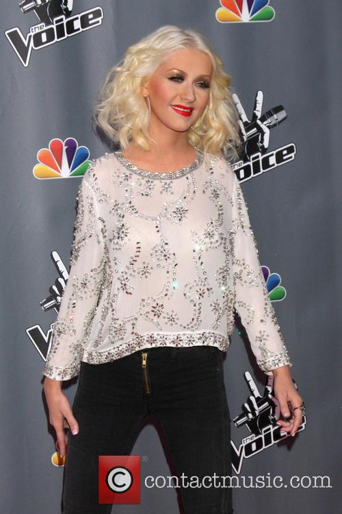 christina aguilera the voice judges photocall season 3941616