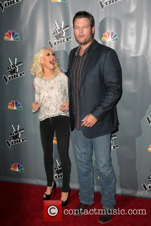 Christina Aguilera and Blake Shelton 2