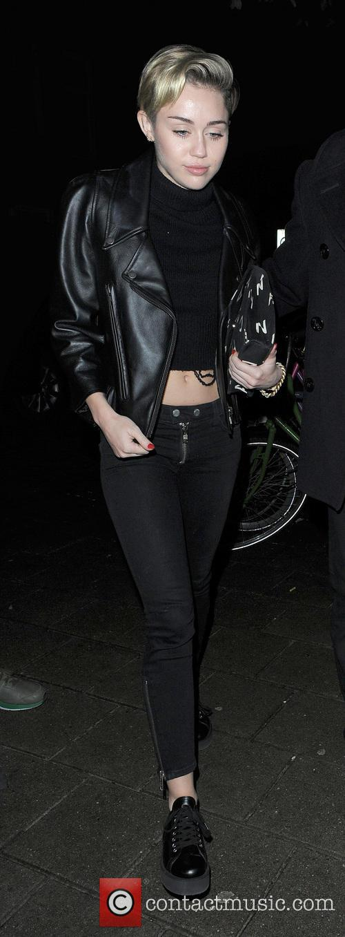 Miley Cyrus enjoys a late night out at...