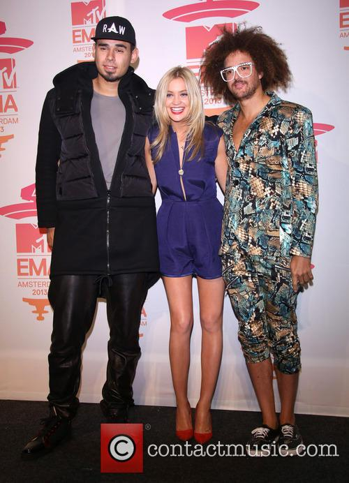 Afrojack, Redfoo and Laura Whitmore 3