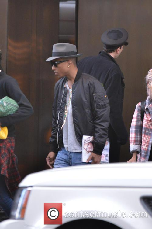 pharrell williams pharrell williams leaving his hotel 3944062
