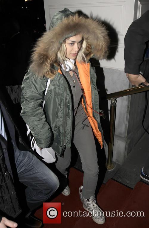 Rita Ora arrives at her Amsterdam hotel