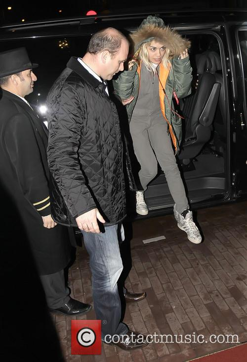 Rita Ora arrives at her Amsterdam hotel