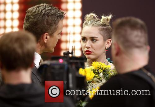 Markus Lanz and Miley Cyrus 2