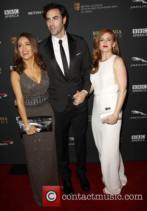 Salma Hayek, Sacha Baron Cohen and Isla Fisher 4