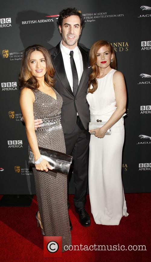 Salma Hayek, Sacha Baron Cohen and Isla Fisher 5