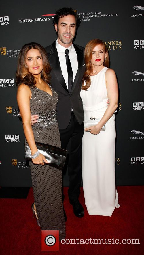 Salma Hayek, Sacha Baron Cohen and Isla Fisher 1