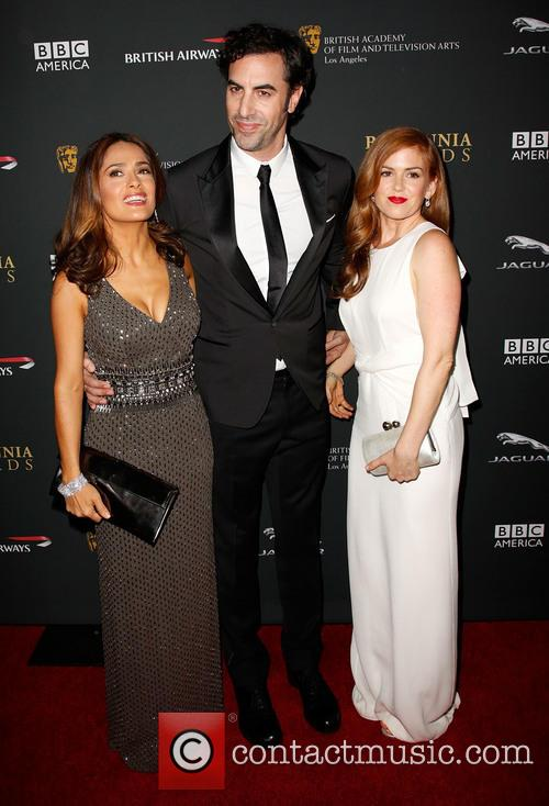 Salma Hayek, Sacha Baron Cohen and Isla Fisher 10