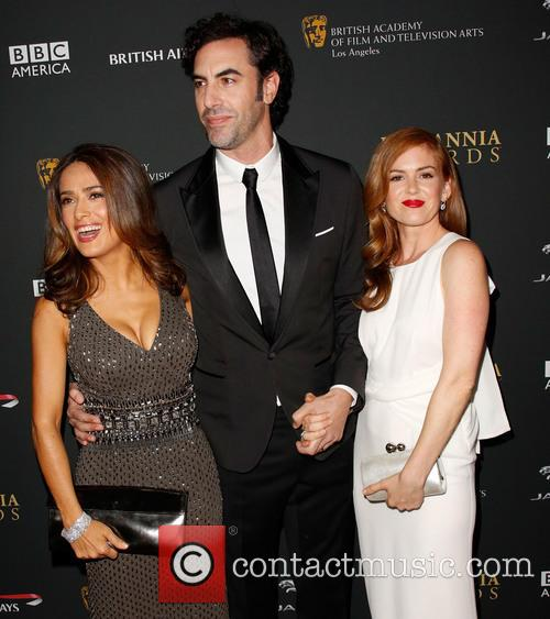Salma Hayek, Sacha Baron Cohen and Isla Fisher 7