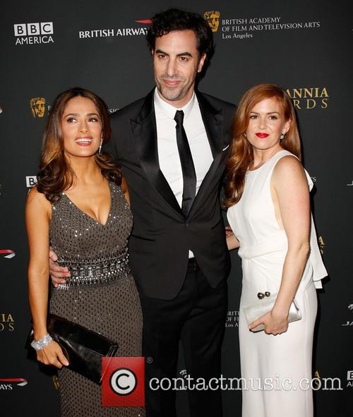 Salma Hayek, Sacha Baron Cohen and Isla Fisher 8