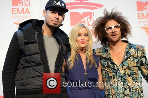Afrojack, Laura Whitmore and Redfoo 6