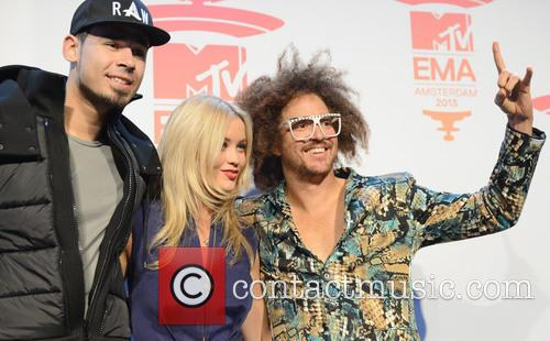 Afrojack, Laura Whitmore and Redfoo 10
