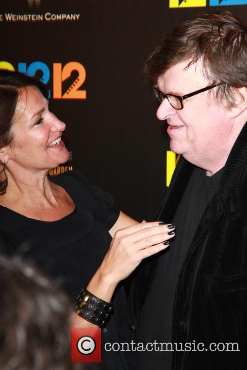 Producer, Meghan O'hara and Michael Moore