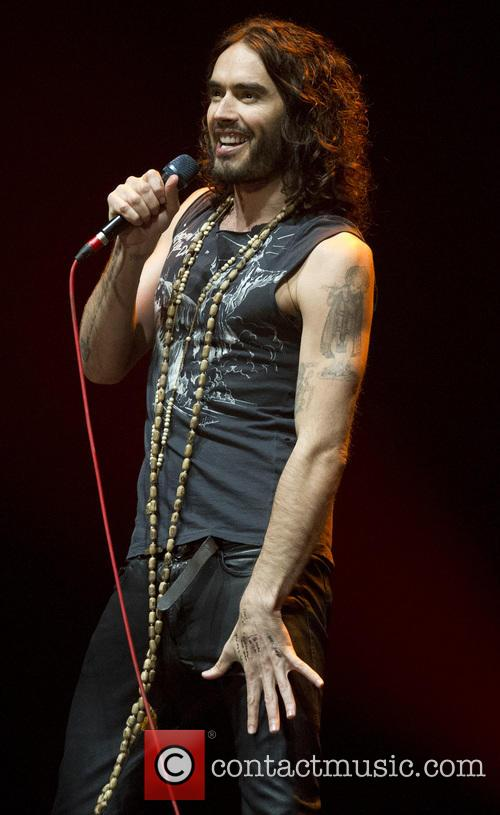 Russell Brand performs at the Heineken Music Hall