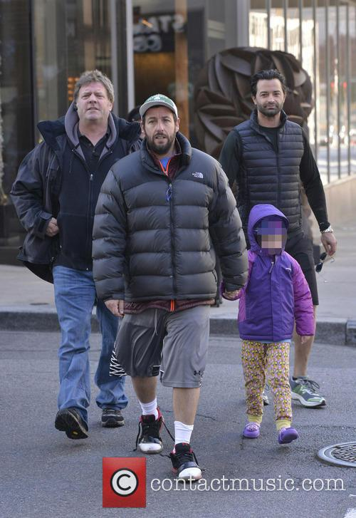 Adam Sandler and his daughter in Manhattan