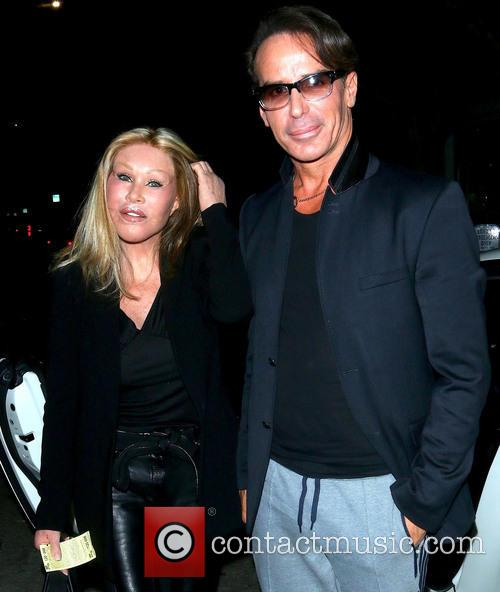 Lloyd Klein and Jocelyn Wildenstein outside Fig &...