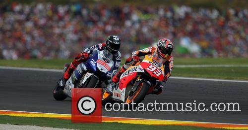 Valencia and Marc MARQUEZ 8