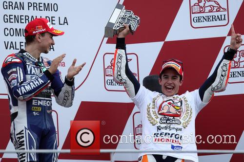 Valencia and Marc MARQUEZ 16