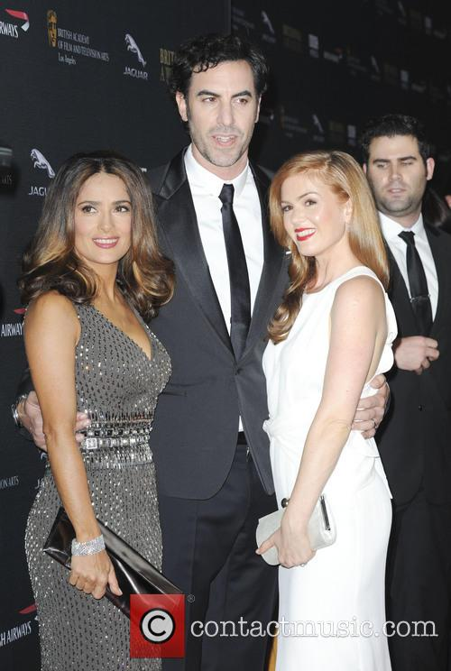 Salma Hayek, Sacha Baron Cohen and Isla Fisher 2