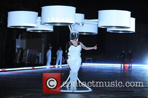 Lady Gaga Volantis flying dress