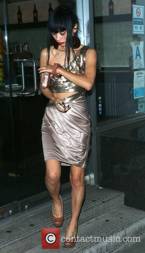 Bai Ling Leaving Mel's Drive-In