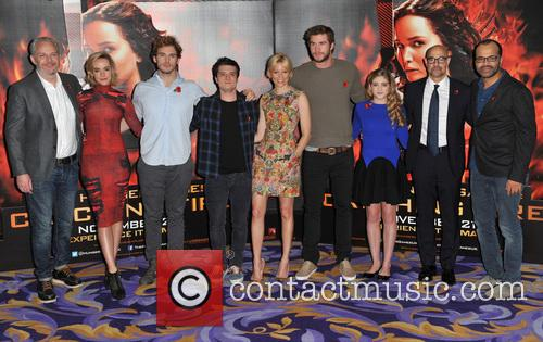 Francis Lawrence, Jena Malone, Sam Claflin, Josh Hutcherson, Elizabeth Banks, Liam Hemsworth, Willow Shields, Stanley Tucci and Jeffrey Wright 4
