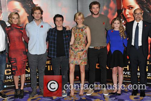 Jena Malone, Sam Claflin, Josh Hutcherson, Elizabeth Banks, Liam Hemsworth, Willow Shields, Stanley Tucci and Jeffrey Wright 11