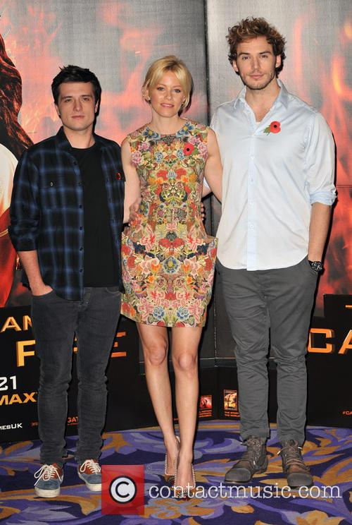 Josh Hutcherson, Elizabeth Banks and Sam Claflin 2
