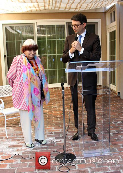 Agnes Varda and Consul General Of France M. Axel Cruau 8