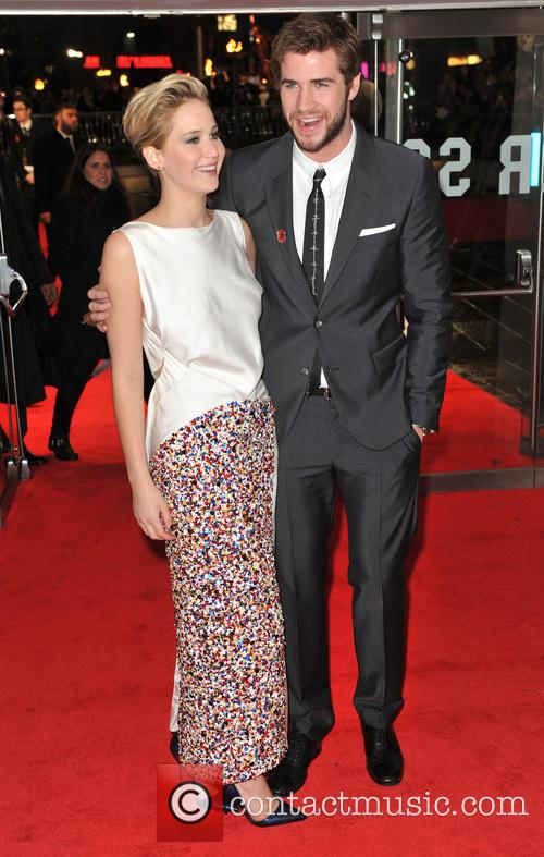 Jennifer Lawrence, Liam Hemsworth, Odeon Leicester Square