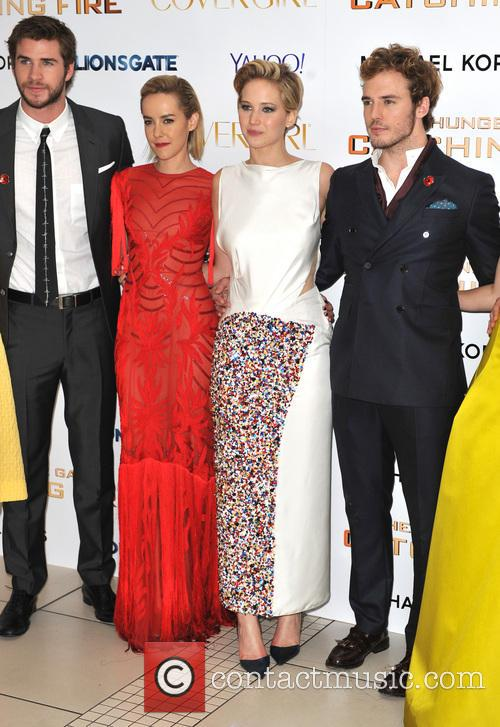 Liam Hemsworth, Jen Malone, Jennifer Lawrence and Sam Claflin