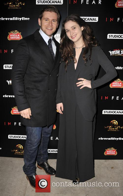 Allen Leech and Alice Englert
