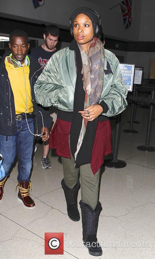 Jennifer Hudson arrives at LAX airport