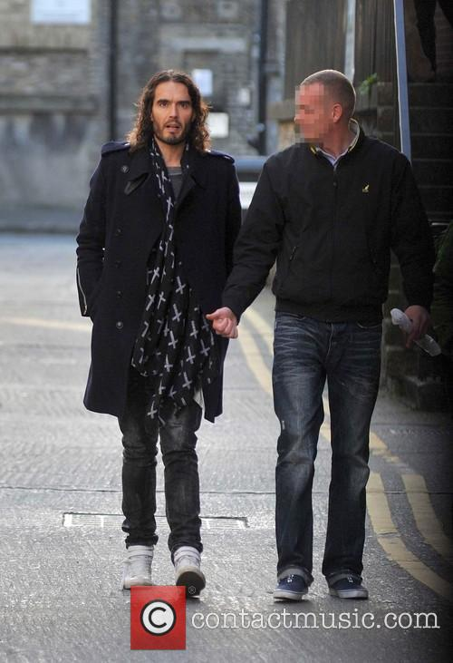 Russell Brand spotted in Dublin