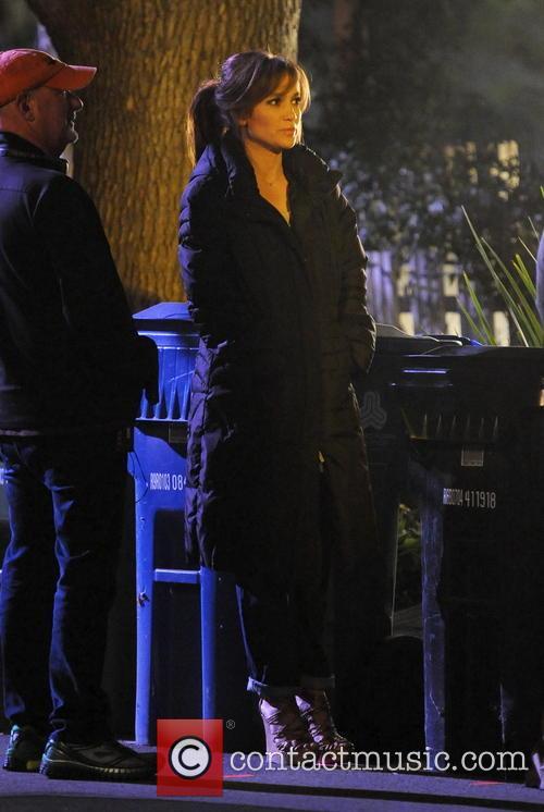 "Jennifer Lopez on the set of ""The Boy Next Door"""