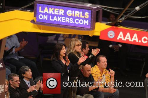 dyan cannon celebs at lakers game 3951466