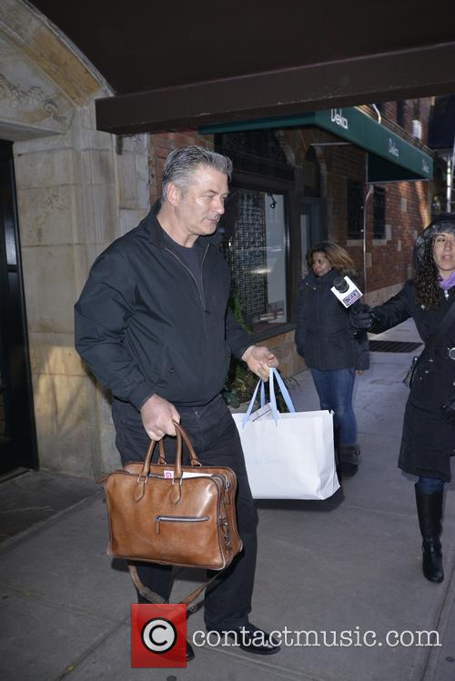 Alec Baldwin leaving his apartment in Manhattan