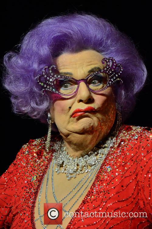 Dame Edna Everage attends a photocall in London