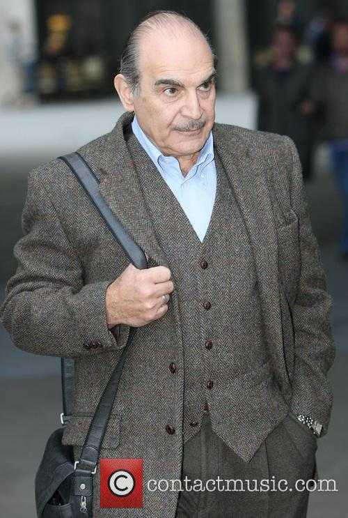David Suchet outside BBC Radio1
