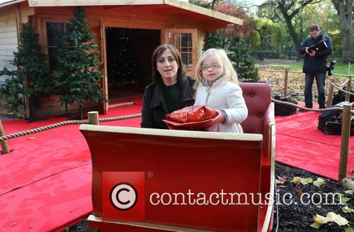 natalie cassidy eliza cottrell meet santa photocall held 3950977