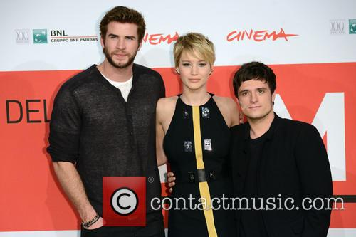 Liam Hemsworth, Jennifer  Lawrence and Josh Hutcherson 2